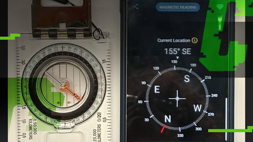 porównanie smartfon i kompas