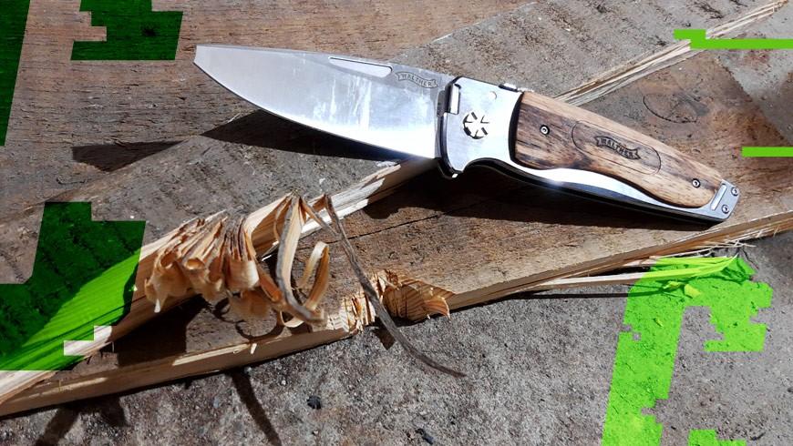 nóż Walther Traditional Folder Wood 3 po przejściach