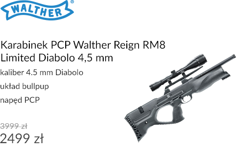 Karabinek PCP Walther Reign RM8 Limited Diabolo 4,5 mm