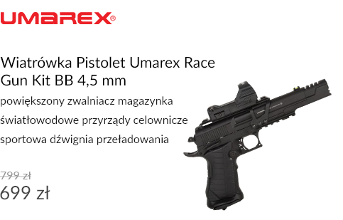 Wiatrówka Pistolet Umarex Race Gun Kit BB 4,5 mm