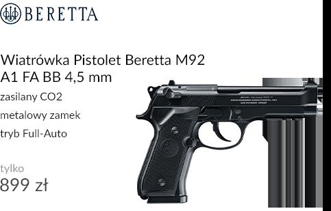 Wiatrówka Pistolet Beretta M92 A1 FA BB 4,5 mm