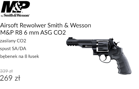 Airsoft Rewolwer Smith & Wesson M&P R8 6 mm ASG CO2