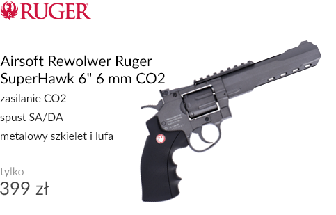 Airsoft Rewolwer Ruger SuperHawk 6