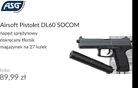 Airsoft Pistolet DL60 SOCOM