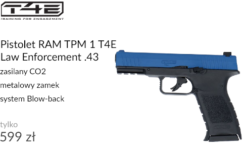 Pistolet RAM TPM 1 T4E Law Enforcement .43