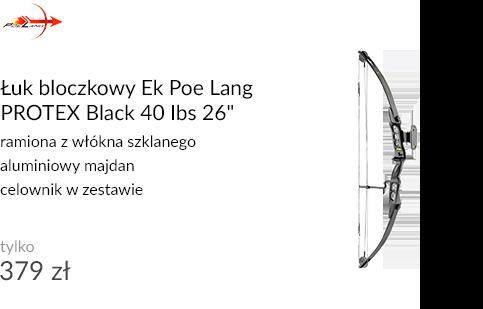 Łuk bloczkowy Ek Poe Lang PROTEX Black 40 Ibs 26