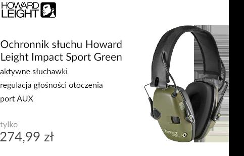 Ochronnik słuchu Howard Leight Impact Sport Green