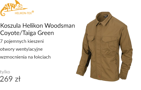 Koszula Helikon Woodsman Coyote/Taiga Green