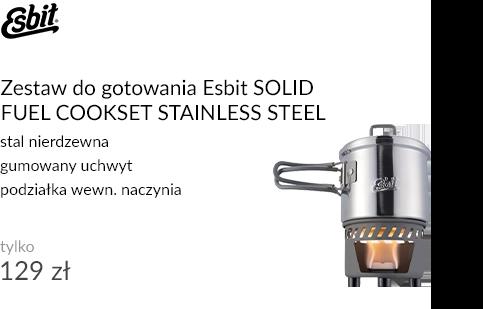 Zestaw do gotowania Esbit SOLID FUEL COOKSET STAINLESS STEEL