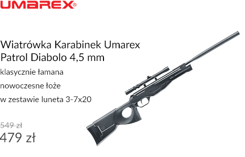 Wiatrówka Karabinek Umarex Patrol Diabolo 4,5 mm