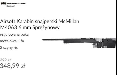 Airsoft Karabin snajperski McMillan M40A3 6 mm Sprężynowy