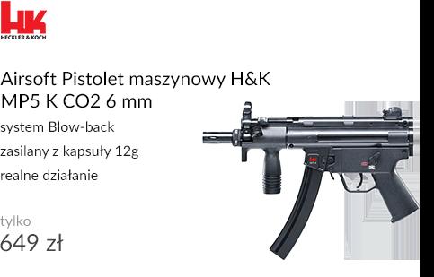 Airsoft Pistolet maszynowy H&K MP5 K CO2 6 mm