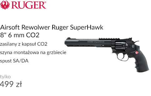 Airsoft Rewolwer Ruger SuperHawk 6 mm CO2