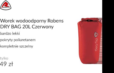 Worek wodoodporny Robens DRY BAG 20L Czerwony