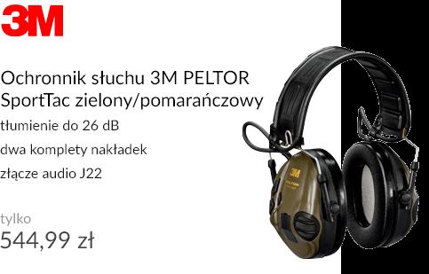 Ochronnik słuchu 3M PELTOR SportTac zielony/pomarańczowy