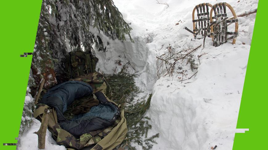 awaryjne schronienie w zimie
