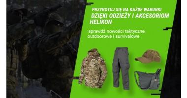 Przygotuj się na każde warunki dzięki odzieży i akcesoriom Helikon
