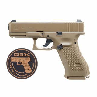 Wiatrówka Pistolet Glock 19X FDE BB 4,5 mm