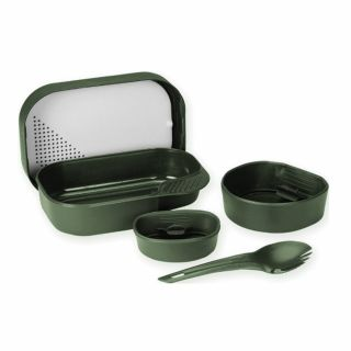 Zestaw naczyń Wildo CAMP-A-BOX Complete Olive Green