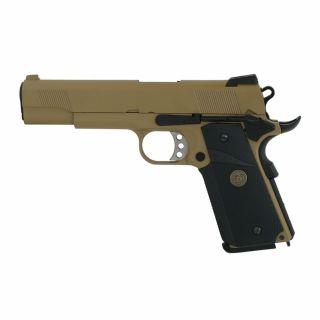 Airosft Pistolet  WE 1911 MEU Rail TAN Green Gas