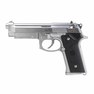 Airsoft Pistolet LS M9 Vertec Silver Green Gas
