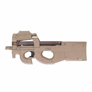 Airsoft Pistolet maszynowy Cybergun FN P90 red dot Tan