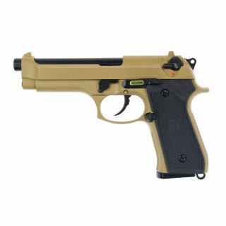 Airsoft Pistolet WE M92S TAN Green Gas
