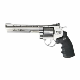"""Airsoft Rewolwer Dan Wesson 6"""" Silver 6 mm CO2"""