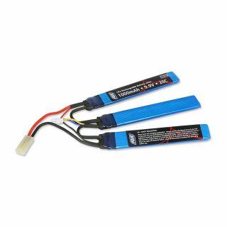 Akumulator ASG - LiFe - 9,9V - 1000 mAh - 20C - [1+1+1]