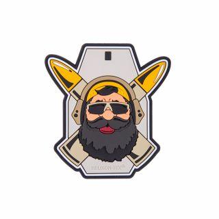 """Emblemat Helikon """"Beardman RANGE"""" - PVC - Szary"""