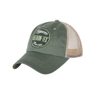 Czapka Helikon Trucker Logo Cap Cotton Twill Zielona
