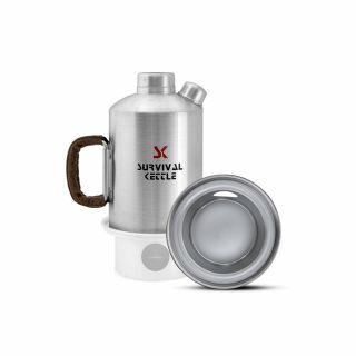Czajnik Survival Kettle Silver 1,2L + Palenisko