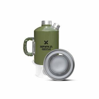 Czajnik Survival Kettle Green 1,2L + Palenisko