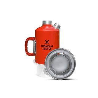 Czajnik Survival Kettle Red 1,2L + Palenisko