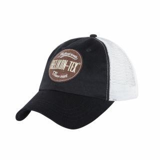 Czapka Helikon Trucker Logo Cap Cotton Twill Czarna/Biała