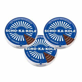 Czekolada Scho-Ka-Kola mleczna z kofeiną 3 szt ZESTAW