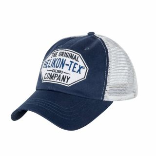 Czapka Helikon Trucker Logo Cap Cotton Twill Niebieska