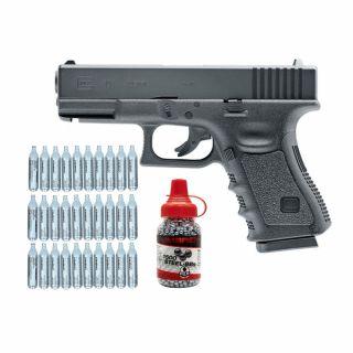Wiatrówka Glock 19 + ZESTAW CO2 30 szt BB 1500 szt