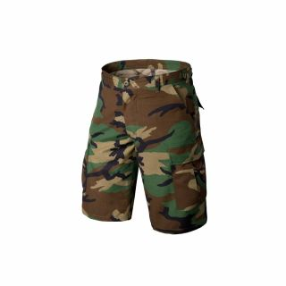 Krótkie Spodnie Helikon BDU Cotton Ripstop US Woodland M/Reg