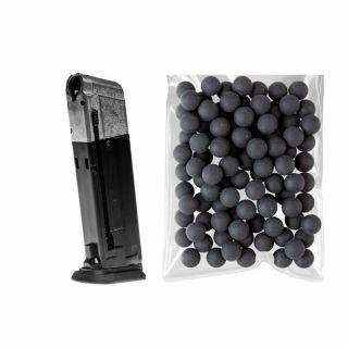 Magazynek do Walther PPQ M2 T4E .43 + ZESTAW kule gumowe .43