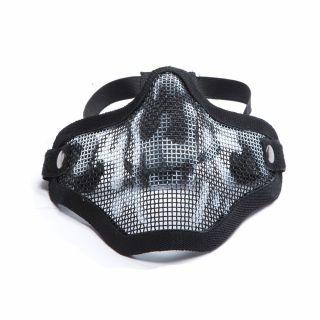 Maska ochronna ASG Stalker Metal mesh Skull Black