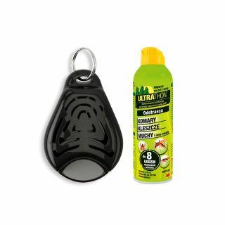 Ultradźwiękowy odstraszacz Tickless Pet + Spray ULTRATHON