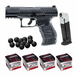 Pistolet RAM Walther PPQ M2 T4E + ZESTAW 100 CO2 Kule 500