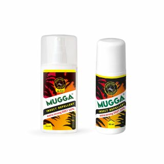 Spray na komary i kleszcze Mugga 50% DEET + Roll-on