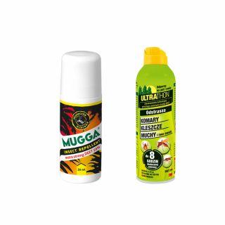 Roll-on Mugga Extra Strong 50% DEET + Spray ULTRATHON 25%