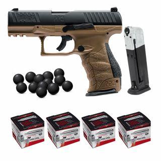 Pistolet RAM Walther PPQ M2 T4E FDE +ZESTAW 100 CO2 Kule 500
