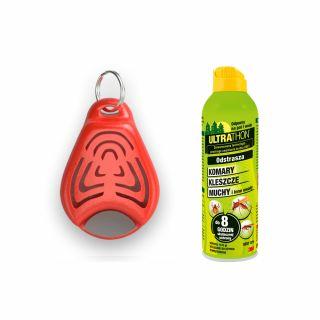 Ultradźwiękowy odstraszacz Tickless Kid + Spray ULTRATHON