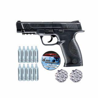 Wiatrówka Smith & Wesson M&P 45 + ZESTAW CO2 10 szt Śrut 500