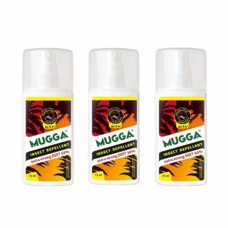 Spray na komary i kleszcze Mugga Extra Strong 50% DEET 3 szt