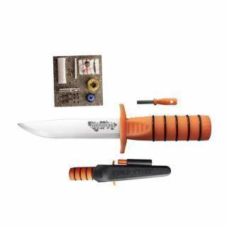 Nóż z głownią stałą Survival Edge Orange